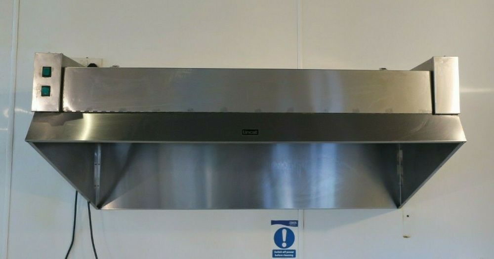 Lincat L4 Commercial Fume Filtration Kitchen Stainless Steel Canopy Hood W1295mm